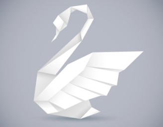 origami-style-swan