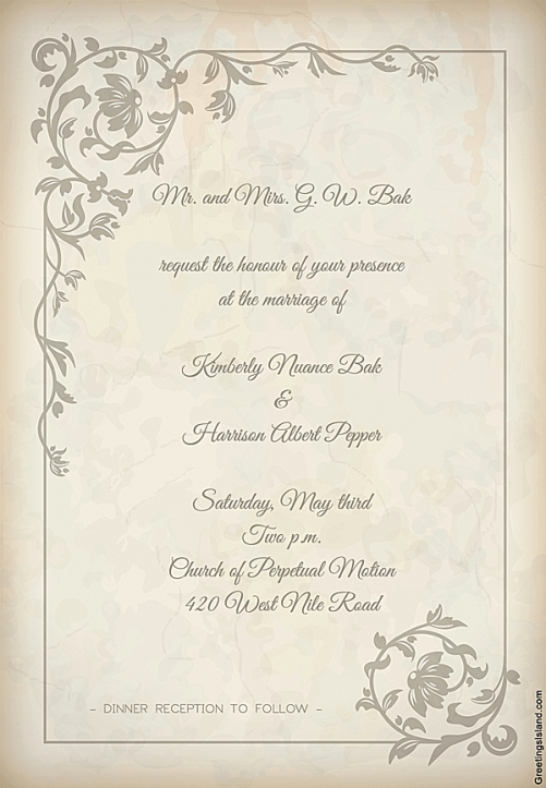 Invitation Bak wedding