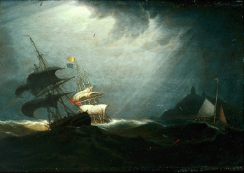 storm at sea Robert_Salmon