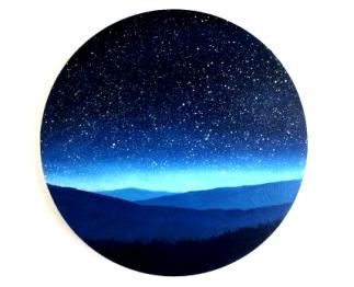 night sky circle