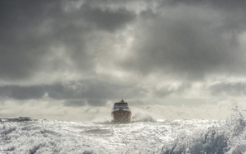unpredictable ship at sea