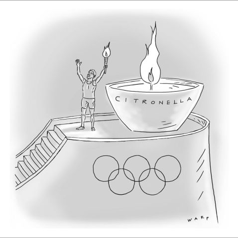 Cartoon Warp-Olympic-Flame-Lighter-Citronella-1000