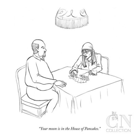 cartoon your-moon-is-in-the-house-of-pancakes-new-yorker-cartoon