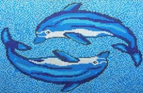 dolphin pool tiles