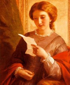 girl reading letter art