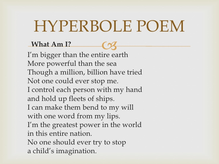 Hyperbole Poems For Kids