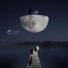 surreal-moon-and-dock