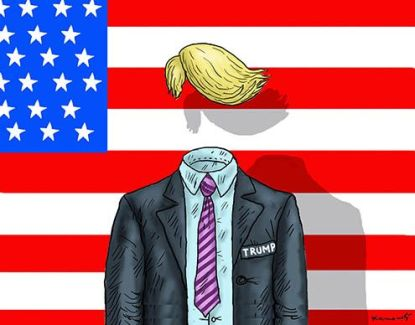 trump-flag-empty-head