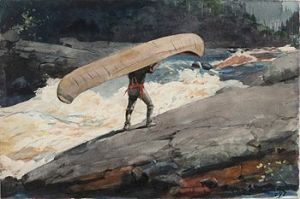 portage by Winslow Hammer