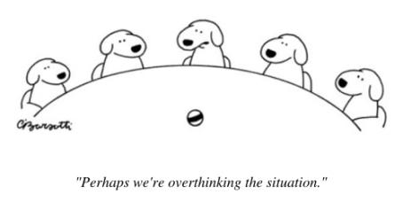 cartoon dogs overthinking
