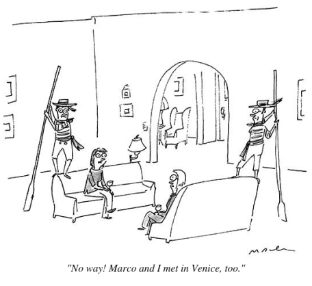 cartoon met in venice