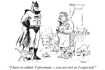 cartoon batman catwoman