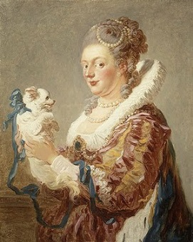 fragonard woman with dog