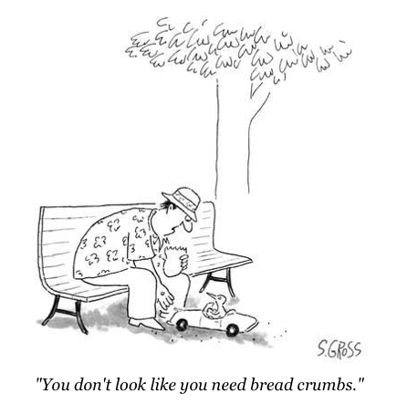 cartoon bread crumbs