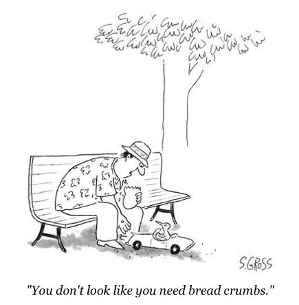 cartoon bread crumbs