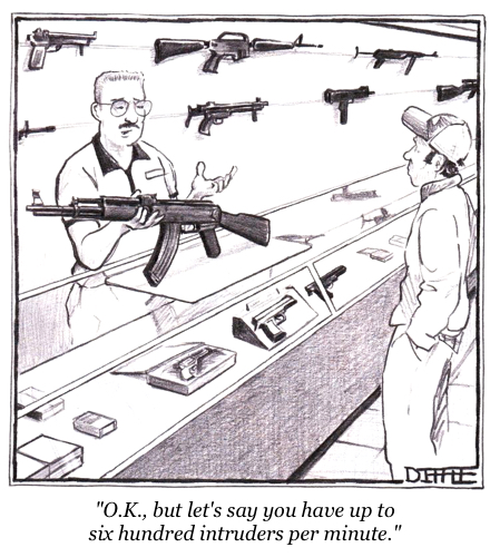 cartoon gun buyer