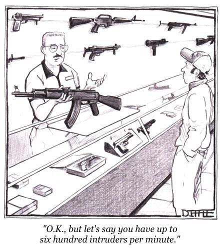 cartoon gun buyer