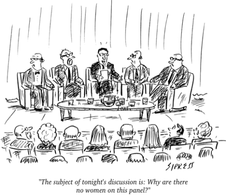 cartoon no women panel