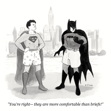 cartoon superheroes in underwear