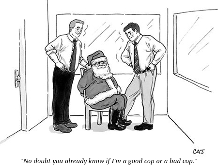 cartoon santa good cop
