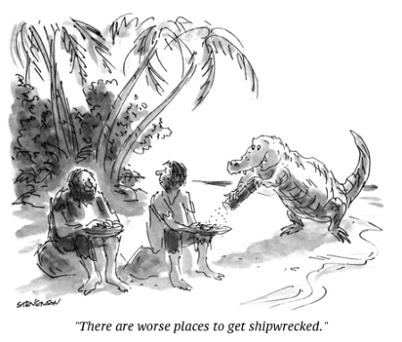 cartoon shipwrecked
