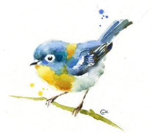 blue tit art