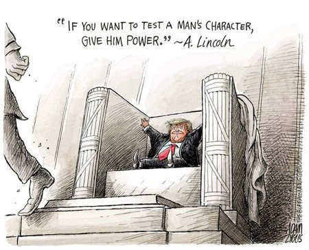 cartoon trump power