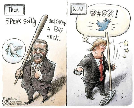 cartoon trump stick