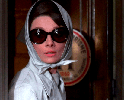audrey in sunglasses