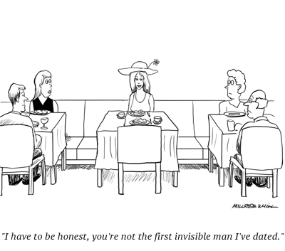 cartoon dating invisible man