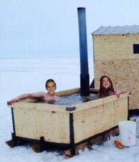 ice fishing Clooneys 2