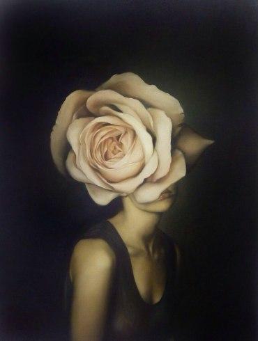woman rose face
