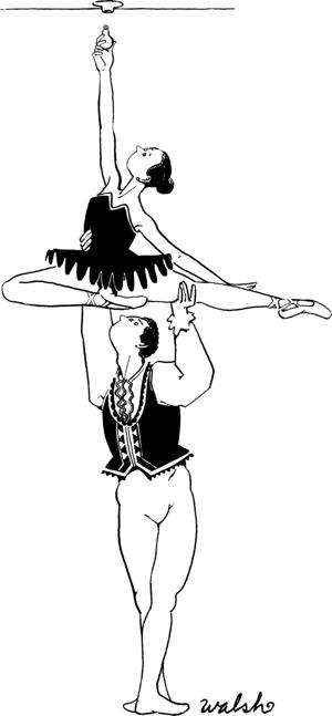 cartoon ballet dancers