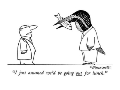 cartoon out for lunch