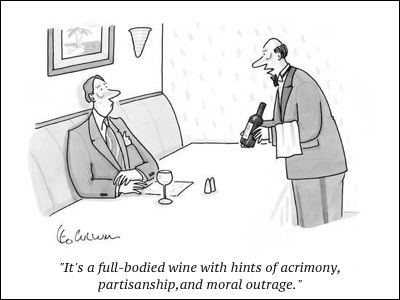 cartoon wine snob
