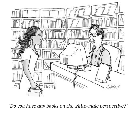 cartoon do-you-have-any-books-on-the-white-male-experience-new-yorker-cartoon_a-l-14261423-8419449
