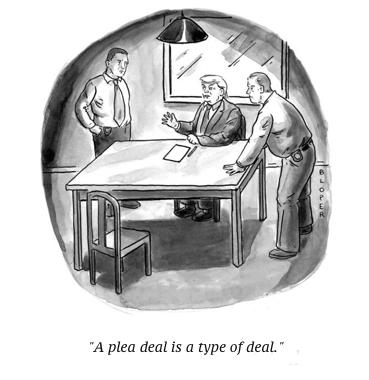 cartoon trump plea deal