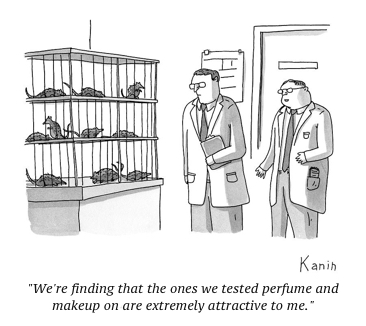 cartoon two-scientists-look-at-rats-in-a-lab-cages-zachary-kanin