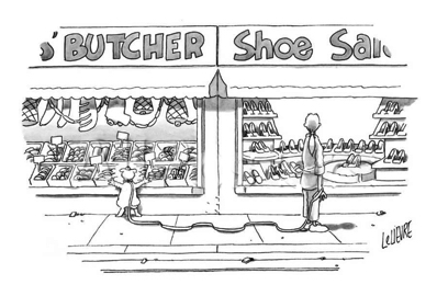 cartoon dog butcher shop