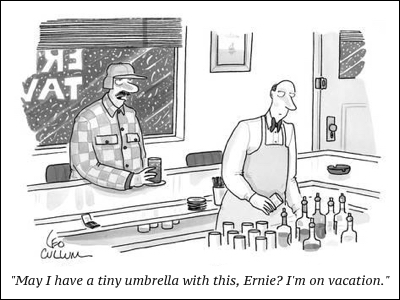 cartoon leo-cullum-may-i-have-a-tiny-umbrella-in-this-ernie-i-m-on-vacation-new-yorker-cartoon_a-G-9184361-8419447