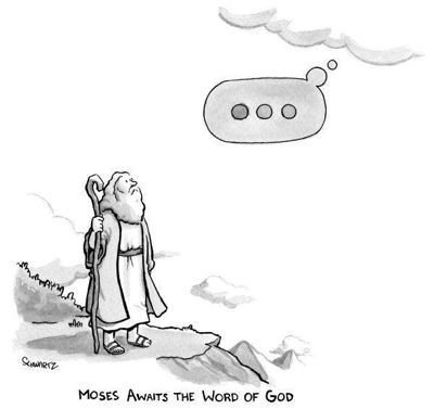 cartoon moses waits