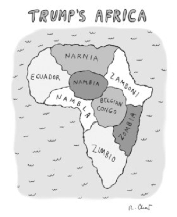 cartoon trumps africa