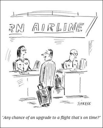 cartoon flight on time
