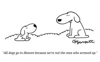 cartoon dog heaven