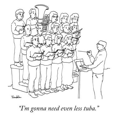 cartoon less tuba