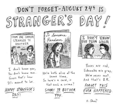 cartoon strangers day