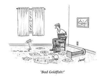 cartoon bad goldfish