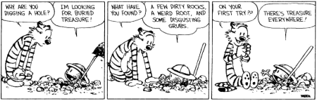 cartoon calvin treasure