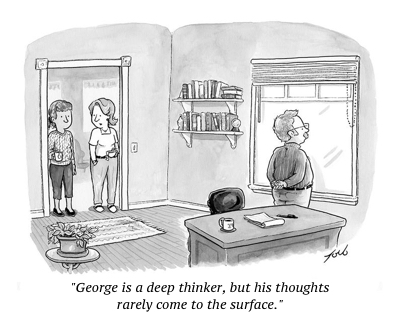cartoon deep thinker