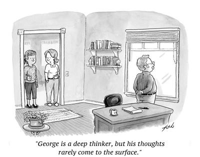 cartoon deep thinker